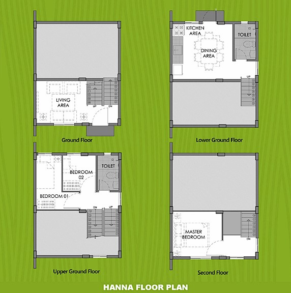 Hanna Floor Plan House and Lot in Dasmarinas