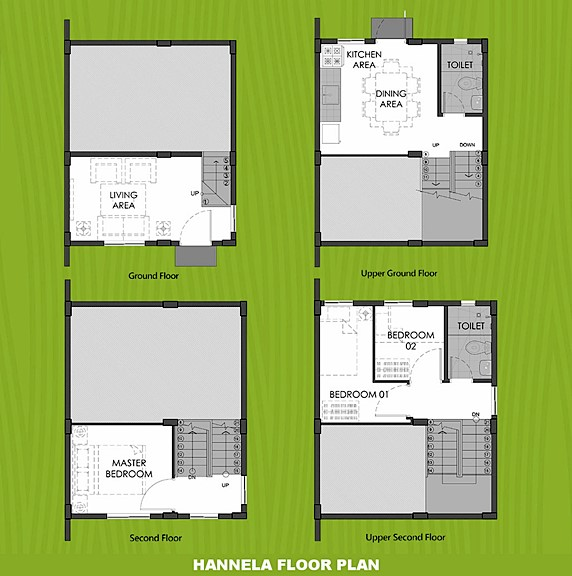 Hannela Floor Plan House and Lot in Dasmarinas