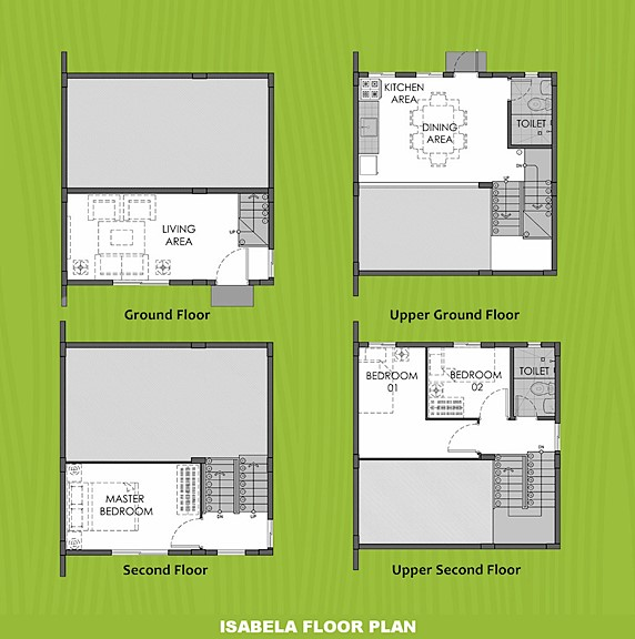 Isabela Floor Plan House and Lot in Dasmarinas