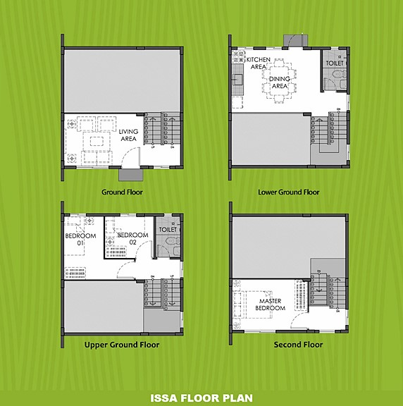 Issa Floor Plan House and Lot in Dasmarinas