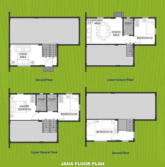 Janna Floor Plan House and Lot in Dasmarinas