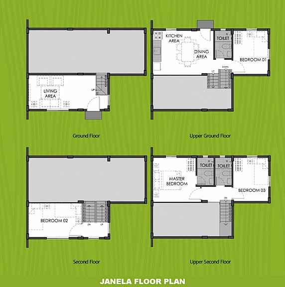 Janela Floor Plan House and Lot in Dasmarinas