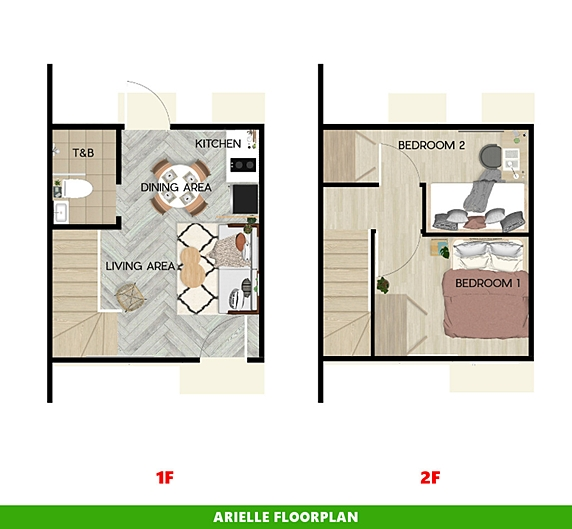 Arielle Floor Plan House and Lot in Dasmarinas