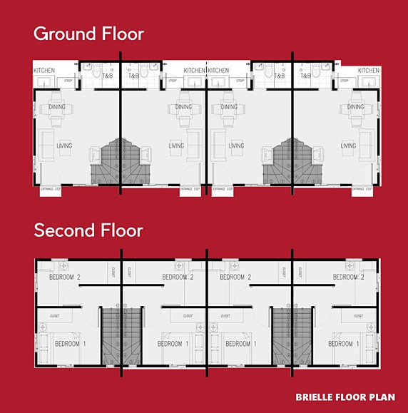Brielle Floor Plan House and Lot in Dasmarinas