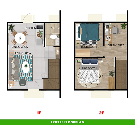 Frielle Floor Plan House and Lot in Dasmarinas