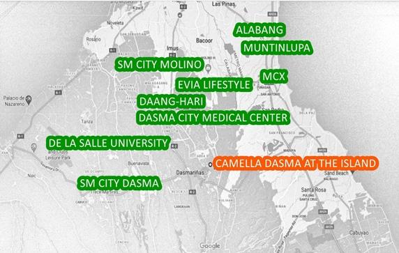 Dasmarinas Property Vicinity Map